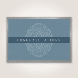 Congratulations card for business